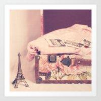 Eiffel Love Art Print