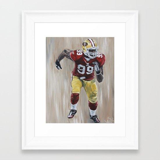 "San Francisco 49er Aldon Smith ""99 Problems"" Framed Art Print"