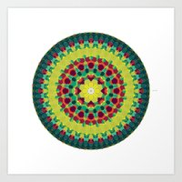 Octagon Rosette 004 | Au… Art Print