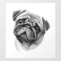The Pug G123 Art Print