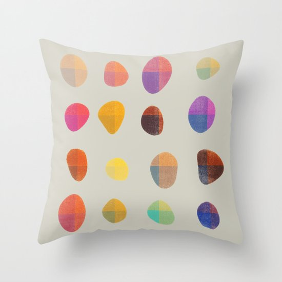 Painted Pebbles 4 Throw Pillow