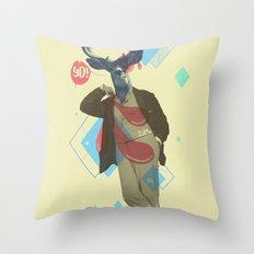 Yo! Deer Man Throw Pillow