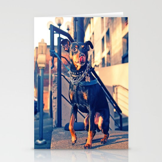 Little tough guy Stationery Card