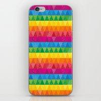 Rainbow Triangles iPhone & iPod Skin