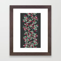 Minty Pinky Branches Framed Art Print