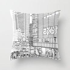 Tokyo - Shinjyuku Throw Pillow