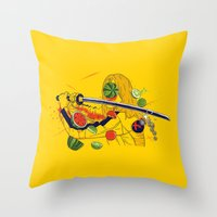 Kill Fruit Throw Pillow