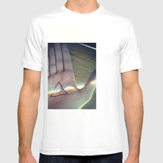 Pink Floyd White Mens Fitted Tee SMALL