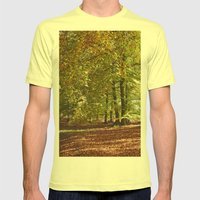 Autumnal Beech Trees In … Mens Fitted Tee Lemon SMALL