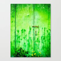 Weathered iron door Canvas Print