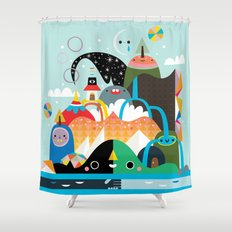 Please Stay Awhile Shower Curtain