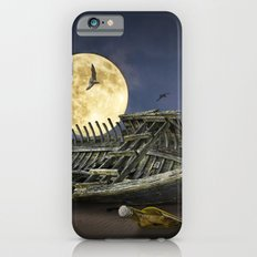Moon and Wooden Shipwreck with Gulls iPhone 6 Slim Case
