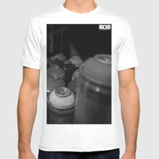 Heat Mens Fitted Tee White SMALL