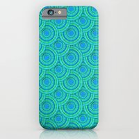 iPhone & iPod Case featuring Teal Parasols Pattern by Peter Gross