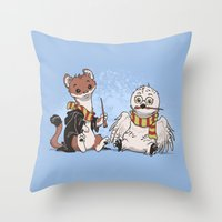 The Owl and The Weasel Throw Pillow