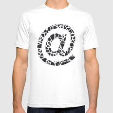 At White SMALL Mens Fitted Tee