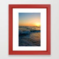 Ocean Sunset 4 Framed Art Print