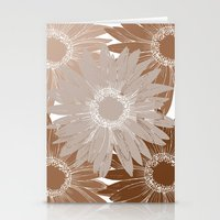Peach Flowers Stationery Cards