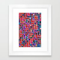 Pixel Repeat no.2 Framed Art Print