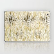 Golden Waves Laptop & iPad Skin
