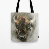 Plains Bison Tote Bag