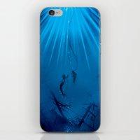 A watery meeting iPhone & iPod Skin