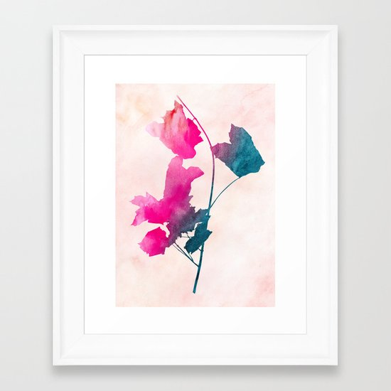 Maple1 Watercolor by Jacqueline Maldonado & Garima Dhawan Framed Art Print