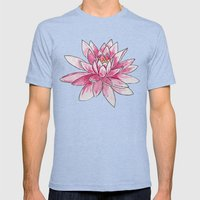 Lotus Mens Fitted Tee Tri-Blue SMALL