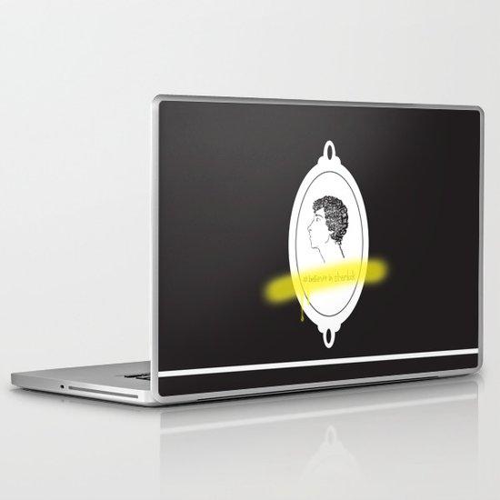 Believe in Sherlock Laptop & iPad Skin