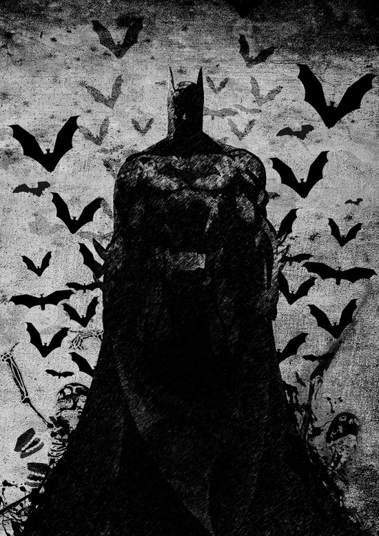 The night rises B&W Canvas Print