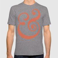 Ampersand Mens Fitted Tee Tri-Grey SMALL