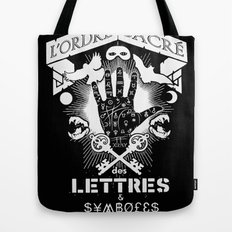 The Sacred Order of Letters and Symbols Tote Bag