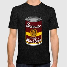 Schrute Fresh Cut Sliced Beets  |  Dwight Schrute  |  The Office Mens Fitted Tee Tri-Black SMALL