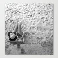 Lady on the Beach Canvas Print