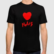 Paris, I love you! Mens Fitted Tee Black SMALL