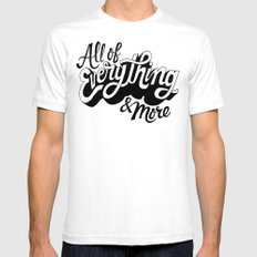All of Everything  White SMALL Mens Fitted Tee