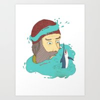 Fisherman's dream Art Print