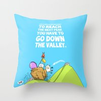 Life Is Like A Mountain … Throw Pillow