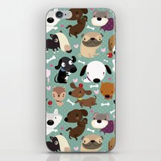 Dog pattern iPhone & iPod Skin