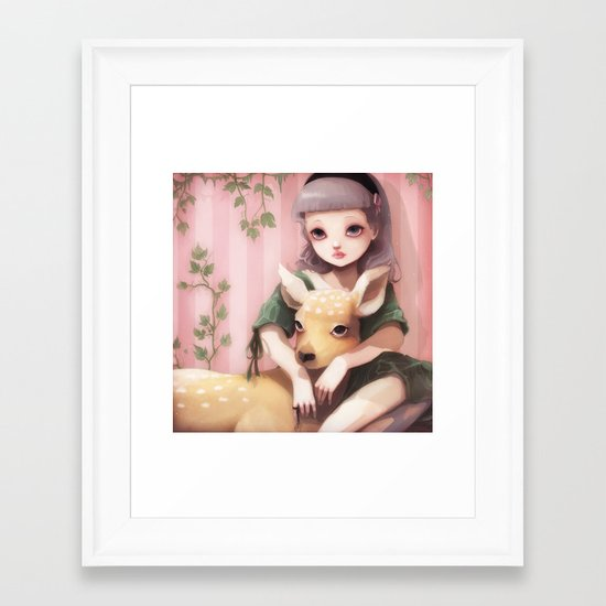 My dear lady deer... Framed Art Print