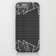 Grids And Stripes Black iPhone 6 Slim Case