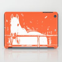 White Horse - Coral Red iPad Case