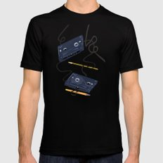 Rewind :) SMALL Mens Fitted Tee Black