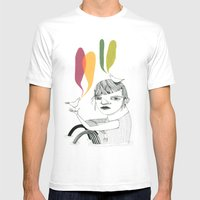 Bird Song Mens Fitted Tee White SMALL