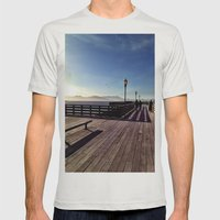 Pier 39 Mens Fitted Tee Silver SMALL