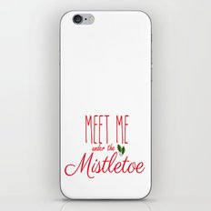 Meet Me Under The Mistletoe Red iPhone & iPod Skin