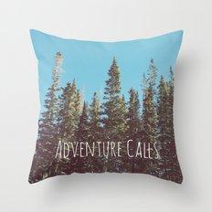 Adventure Calls Throw Pillow