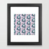Funny Bugs In Love Framed Art Print