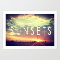Sunsets Art Print