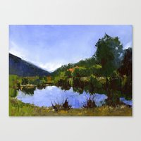 Reflections On The Pond Canvas Print
